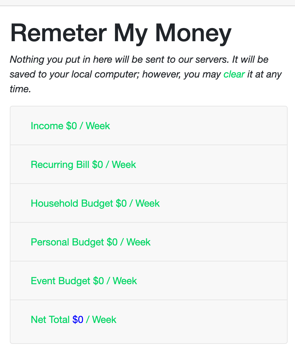 Remeter.org Budget View